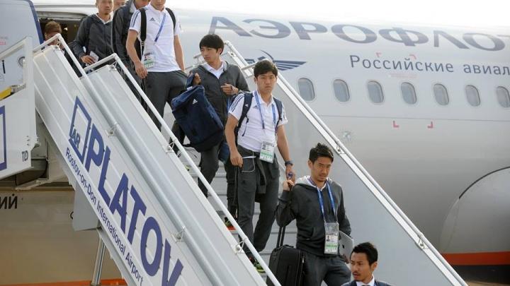 Ростов, встречай гостей: сборная Японии прилетела на донскую землю
