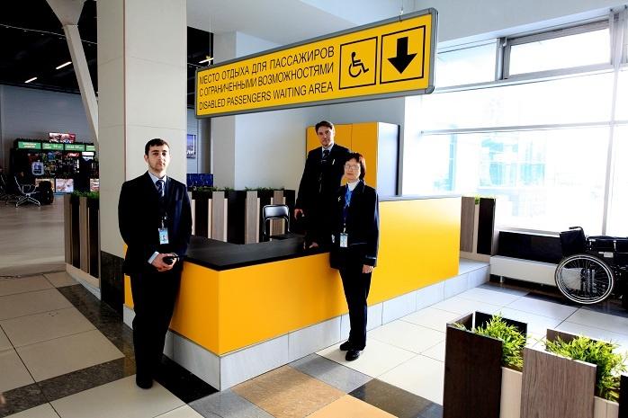 Сервисная стойка находится на первом этаже аэропорта