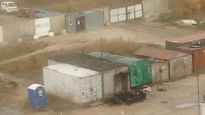 В Антипино на стройке детсада сгорел вагончик