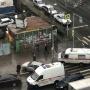 Выбросило на тротуар: в Самаре столкнулись две легковушки и машина скорой помощи
