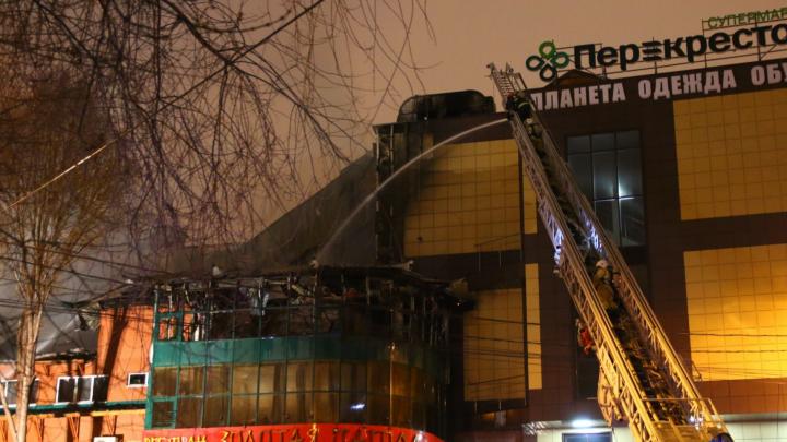 В ресторане «Золотая Пагода» из-за пожара обрушилась крыша