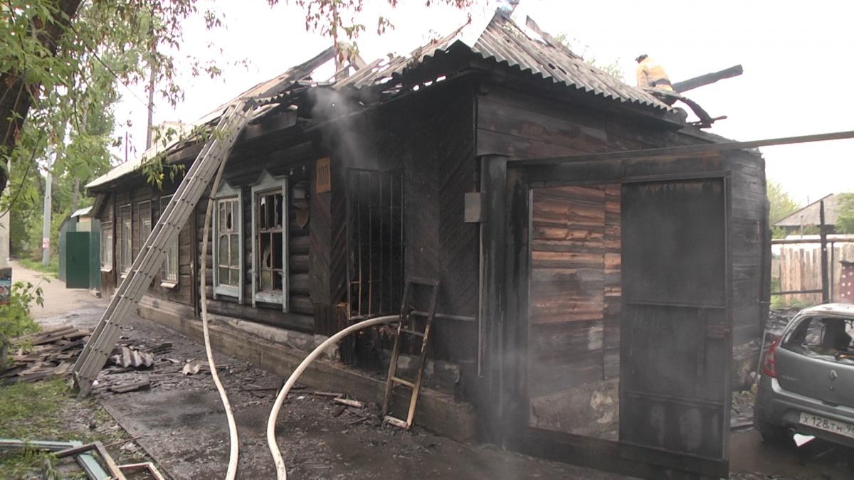 В пожаре выгорел частный дом
