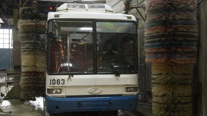 В Уфе временно отменили троллейбусный маршрут