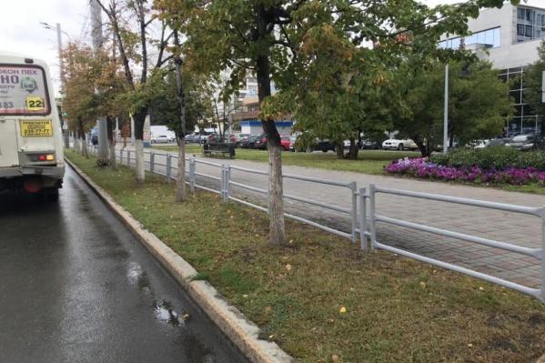 Заборы хотят убрать вдоль всей прогулочной зоны проспекта Ленина, а на перекрёстках им найдут альтернативу