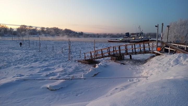 В Архангельске готовят к открытию пять ледовых переправ
