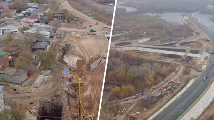 Три кольца и яма: видеоблогер показал, как строят Фрунзенский мост