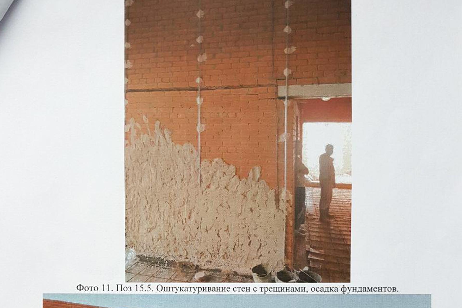 Трещины здания «Олени, лоси, рыси, тигры» заштукатуривают