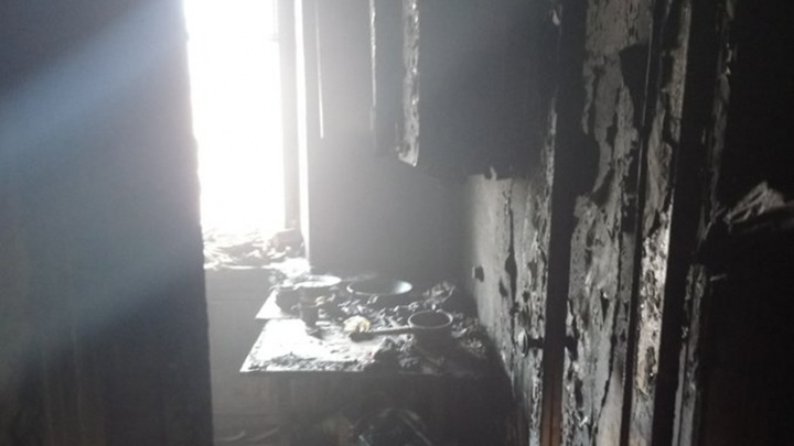 В Ярославле в пожаре пострадал мужчина