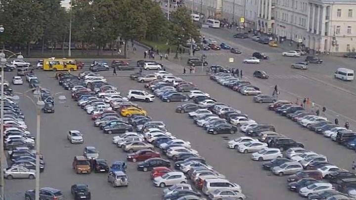 На площади 1905 года на один день закроют парковку