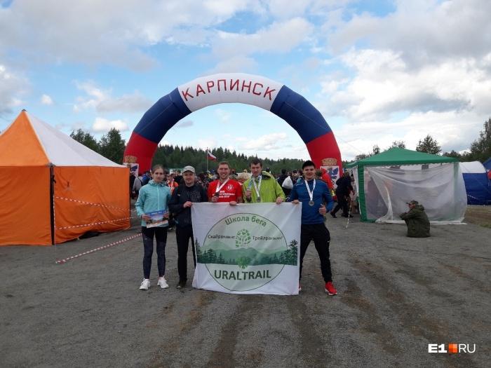 Медали завоевалиЕвгений Марков,Андрей Сафронов иАлексей Пагнуев (второй справа)