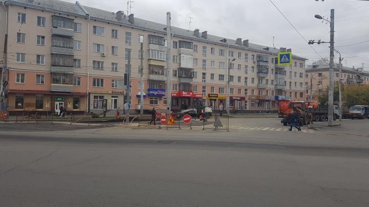 Часть улицы Коли Мяготина в Кургане открыли для проезда после ремонта сетей