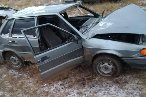 Автомобиль превратился в груду металла