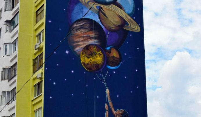 «Просто космос!»: смотрим, как челябинские художники меняют облик российских городов