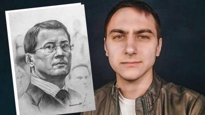 Художник, который рисует знаменитостей: «Отправить картину в космос проще, чем подойти к Хабирову»