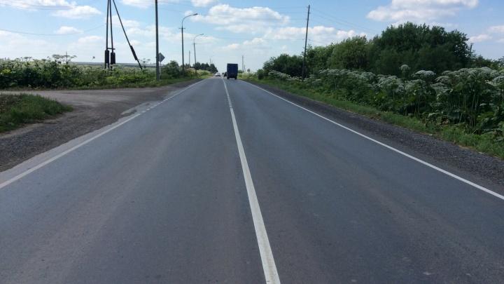 В Пермском районе отремонтировали дорогу, по которой туристы ездят в музей Василия Каменского