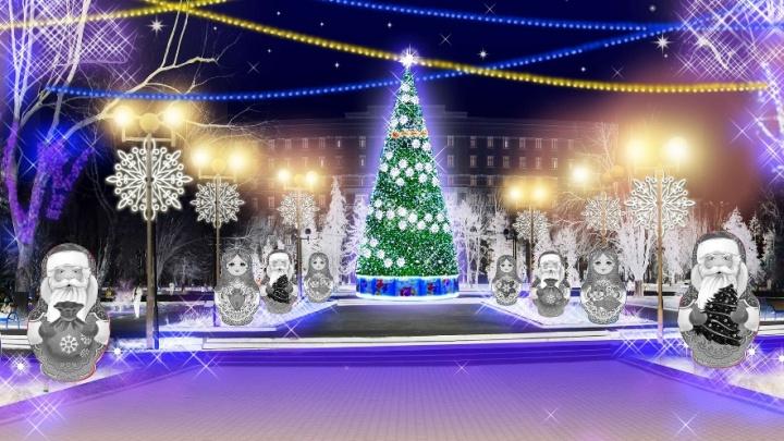 Матрешки и жар-птицы: рассказываем, как к Новому году украсят улицы Ростова