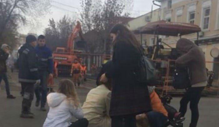 В центре Уфы иномарка сбила девушку