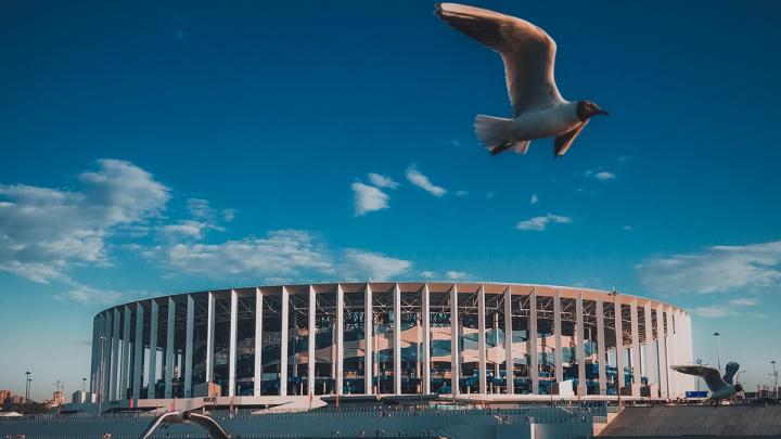 Фото дня. Монументальная спортивная арена в Нижнем Новгороде