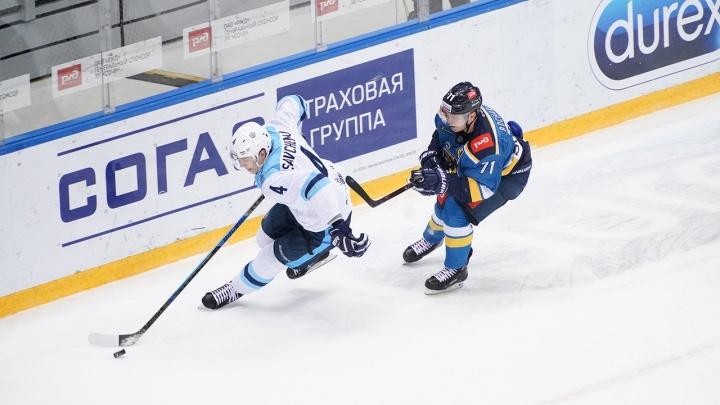 Опять поражение: хоккейная«Сибирь» проиграла ХК«Сочи»