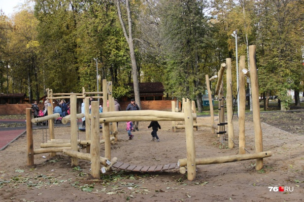 Городок будущего в Юбилейном парке Ярославля