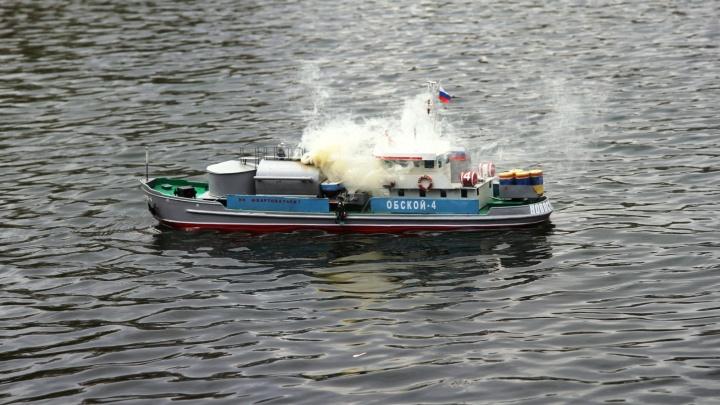 Сибиряки запустили в пруд в Кировском районе сотню маленьких кораблей