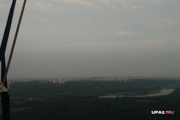 По словам очевидцев, смог в Башкирии набирает силу