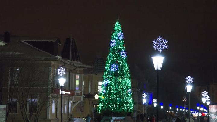 Первая новогодняя ёлка откроется в Архангельске 23 ноября