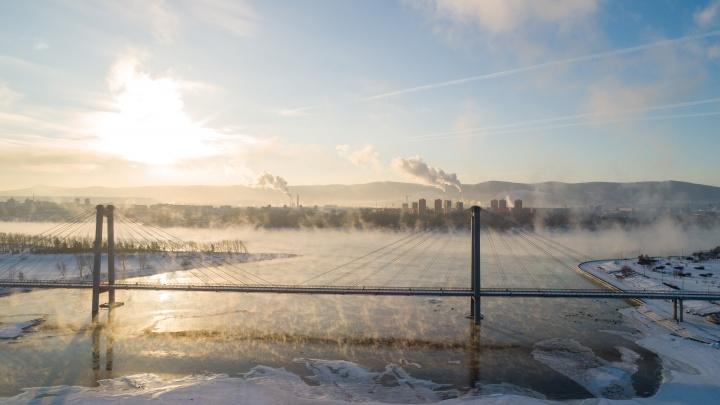 После трех дней чистого неба в Красноярске начинает портиться воздух
