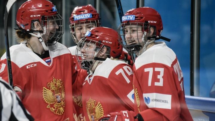 Уфимские хоккеистки завоевали для сборной России медали высшей пробы