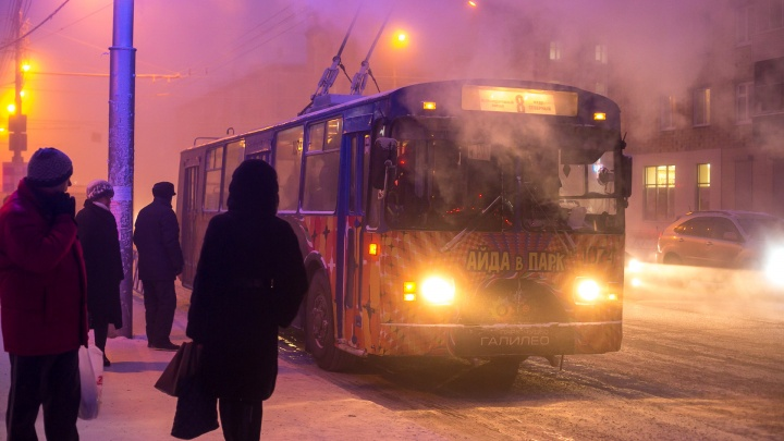 Каждый 6-й автобус сошёл с маршрута в Красноярске в понедельник