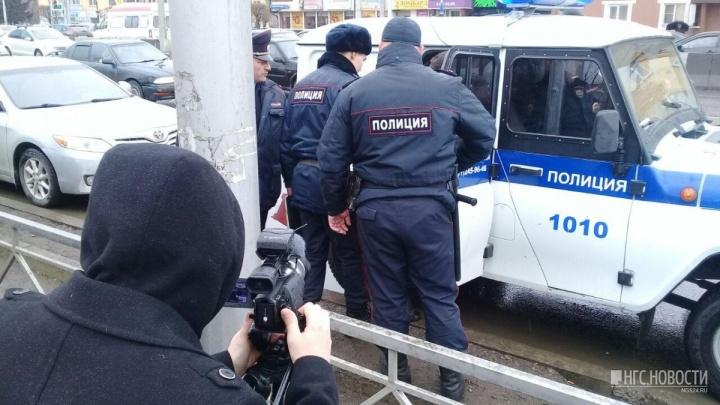 После бунта предпринимателей в отделение полиции доставили 9 человек