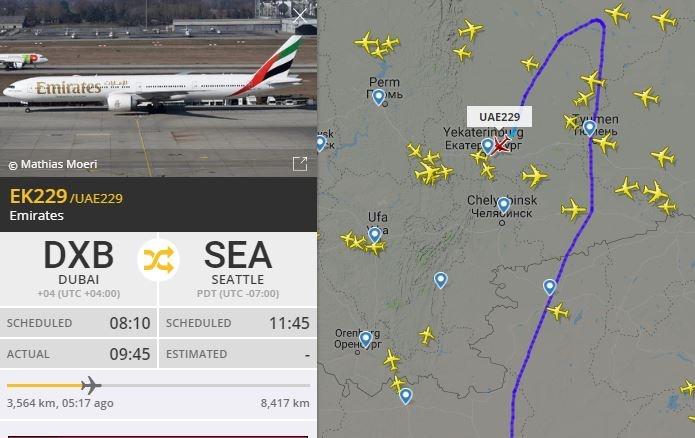 Boeing летел над Тюменью, но сел в Екатеринбурге