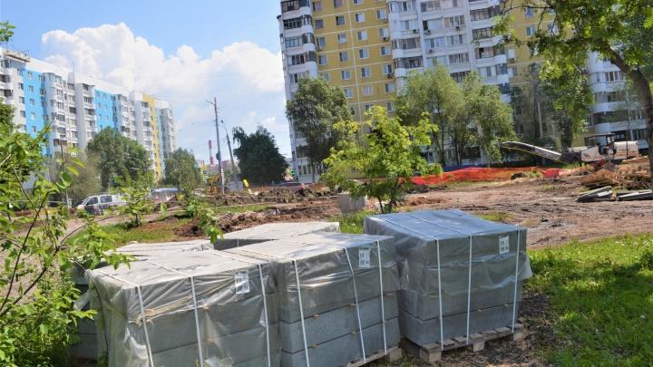 Крымскую площадь в Самаре ремонтируют круглосуточно