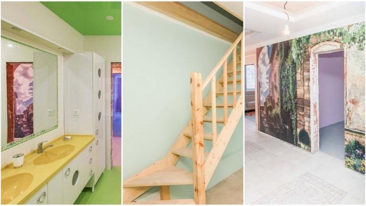 Самая многокомнатная квартира из тех, что продают в Тюмени, занимает два этажа. Как она выглядит?