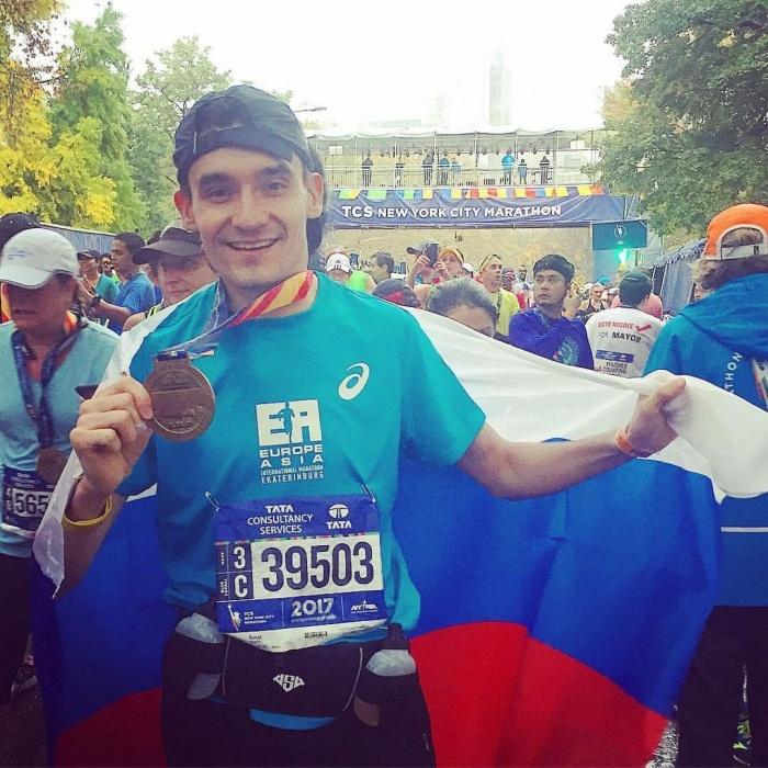 Участник марафона из Новосибирска Ринат Низамов