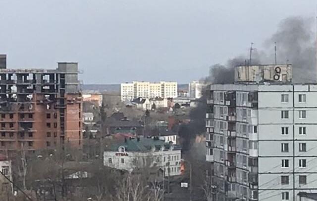 В центре всё было в дыму: у долгостроя на Герцена в частном секторе случился пожар