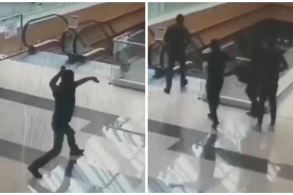 Потерпевшим в суде выступает мужчина, размахивающий ножом в торговом центре. Его ранил Колозян из травматического пистолета
