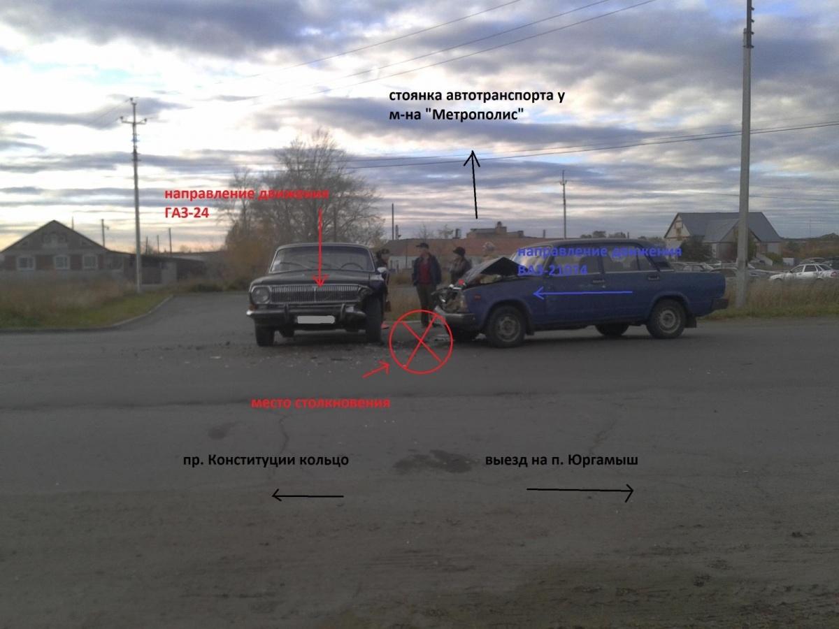 Водитель автомобиля ГАЗ не пропустил автомобиль ВАЗ