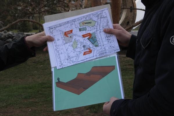 План обновленного парка Гагарина