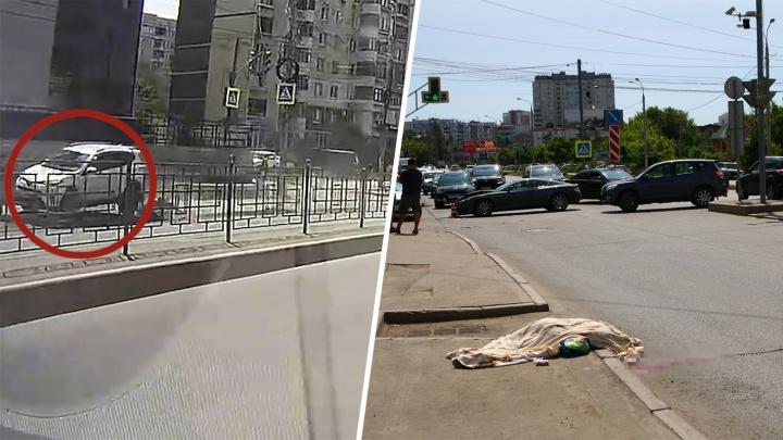Внедорожник проехал по женщине: появилось видео момента смертельного ДТП на Солнечной