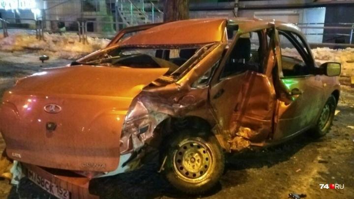 «Был пьяный и без прав»: в центре Челябинска произошла серьёзная авария