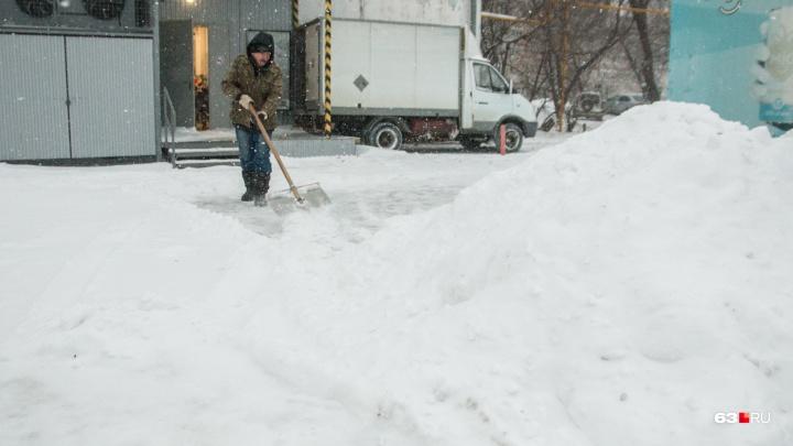 В Самарской области снегопад побил рекорд 1983 года