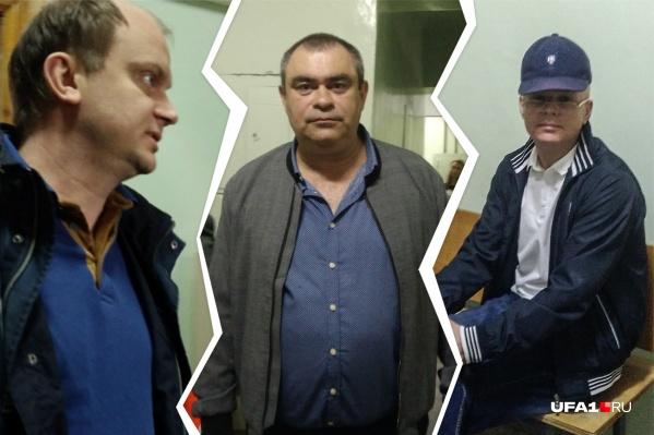 Павлу Яромчуку (слева), Салавату Галиеву (в центре) и Эдуарду Матвееву (справа) грозят реальные сроки в колонии