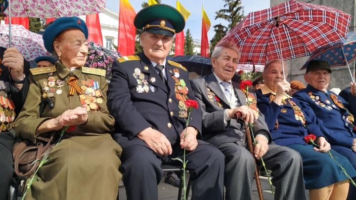 Курган отметил 74-ю годовщину Победы в Великой Отечественной войне