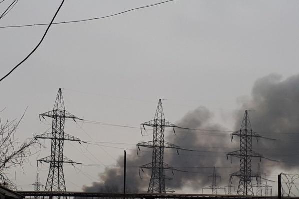 Свалка загорелась днём в понедельник, 19 ноября