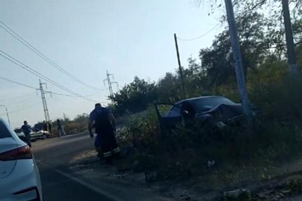 После аварии на улице Шурухина выстроилась длинная пробка