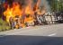 Водитель фуры пытался избежать столкновения: видео того, как на ЕКАД цементовоз влетел в грузовик