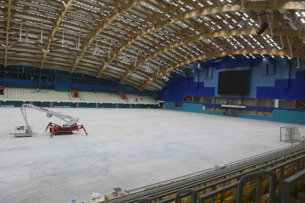 В сентябре на одной из стен фасада восстановят мозаичное панно, которое украшало старое здание стадиона