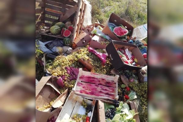 Местные жители жалеют, что продукты выбросили, а не раздали людям