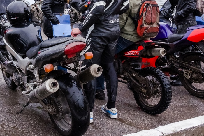 На дорогах Новосибисрка уже появились первые мотоциклисты